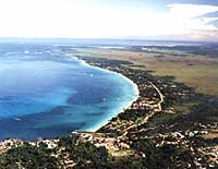 Photograph of Negril coastline